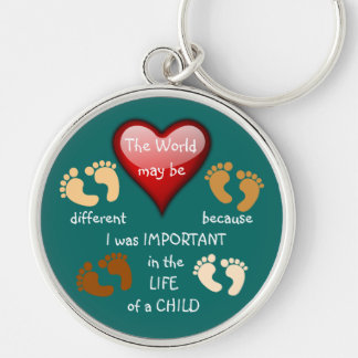 I Made A Difference ~ Keychain.4 Silver-Colored Round Keychain