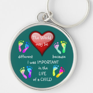 I Made A Difference ~ Keychain.5 Silver-Colored Round Keychain