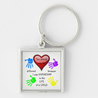 I Made A Difference ~ Premium Keychain.2 Silver-Colored Square Keychain