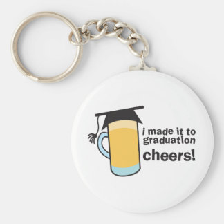 I made it to Graduation CHEERS! Basic Round Button Keychain