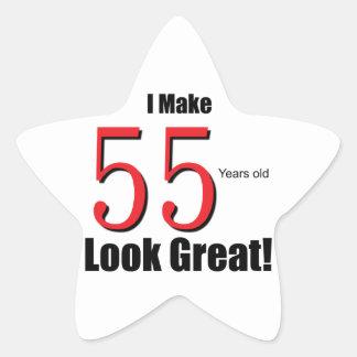 I Make 55 years look Great! Star Sticker