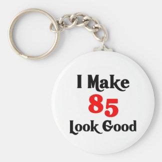 I make 85 look Good Basic Round Button Keychain
