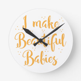 i make beautiful babies wall clocks