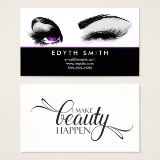 I Make Beauty Happen Business Card