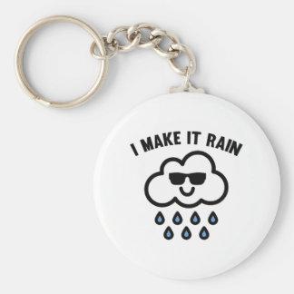 I Make It Rain Basic Round Button Keychain