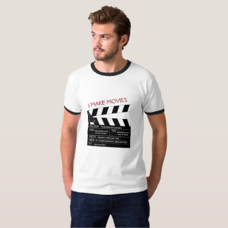 I Make Movies Customizable Clapperboard T-Shirt