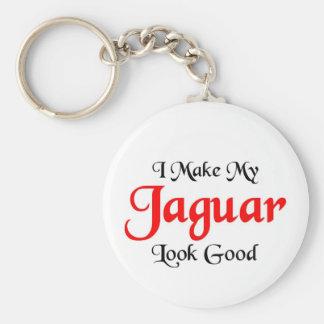 I make my Jaguar look good Basic Round Button Keychain