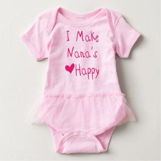I Make Nana's Heart Happy Baby Tutu Bodysuit