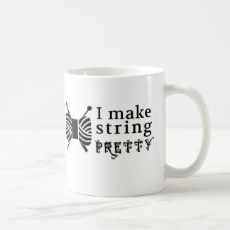 I Make String Pretty • Yarn Knit Crochet Crafts Coffee Mug