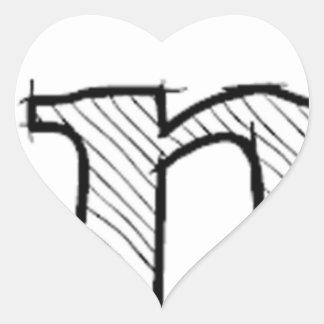 'i' : man (Karl Lentz) Heart Sticker