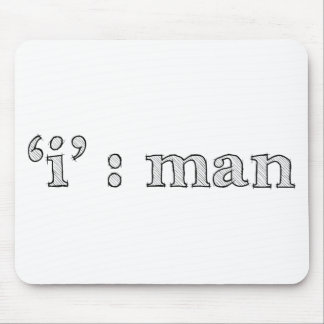 'i' : man (Karl Lentz) Mouse Pad