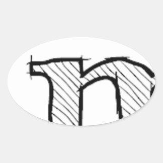 'i' : man (Karl Lentz) Oval Sticker