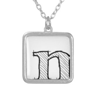 'i' : man (Karl Lentz) Silver Plated Necklace