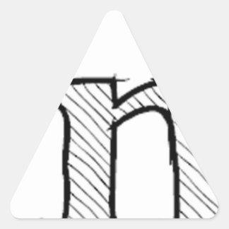 'i' : man (Karl Lentz) Triangle Sticker