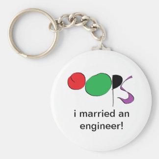 i married an engineer keychain