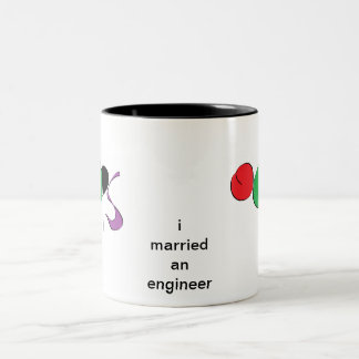 i married an engineer Two-Tone coffee mug