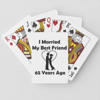 I Married My Best Friend 65 Years Ago Poker Deck