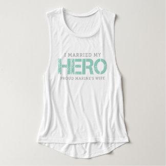 I Married My Hero - Marine's Wife Tank Top