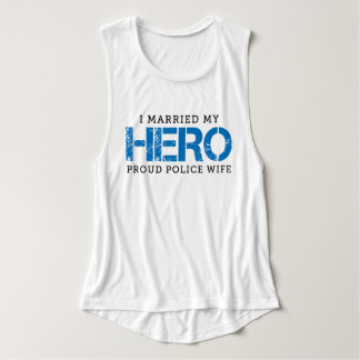 I Married My Hero - Police Wife Tank Top