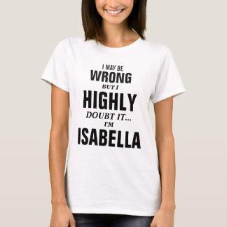 I may be wrong but I doubt it I'm Isabella T-Shirt