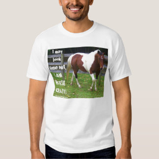 I may look sane but, I AM HORSE CRAZY! Shirt