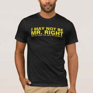 I MAY NOT BE MR. RIGHT T-Shirt