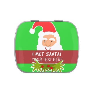 I Met Santa Customizable Christmas Treats Jelly Belly Tins