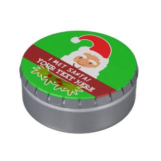 I Met Santa Customizable Christmas Treats Jelly Belly Candy Tins