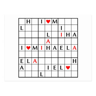 I♥MIHAELA POSTCARD