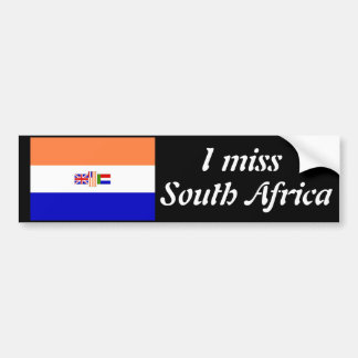 I miss South Africa Bumper Sticker