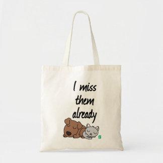 i miss them already tote bag