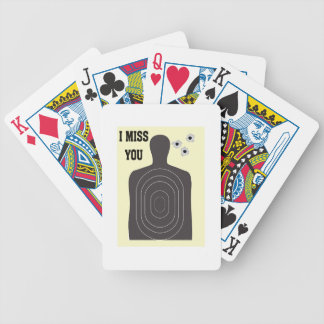 I MISS YOU BICYCLE PLAYING CARDS