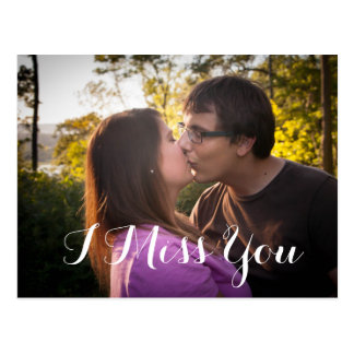 I Miss You Custom Photo romantic Postcard