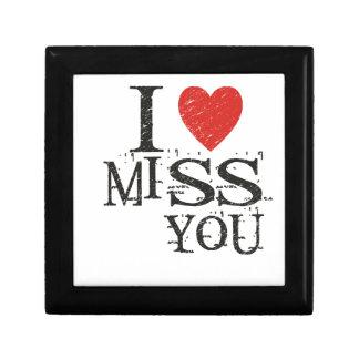 I miss you, love gift box