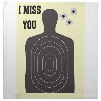 I MISS YOU NAPKIN