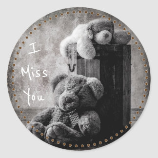 I Miss You Round Sticker