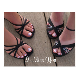 I Miss You Shoes Postcard