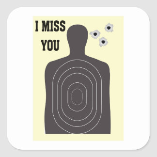 I MISS YOU SQUARE STICKER