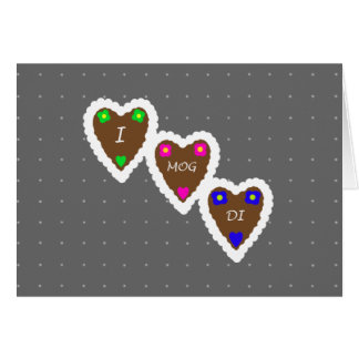 I Mog Di Lebkuchenherz German Gingerbread Hearts Card