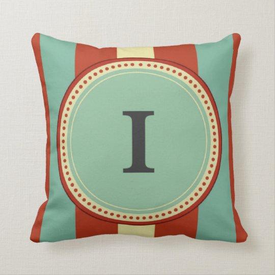 'I' Monogram Throw Pillow