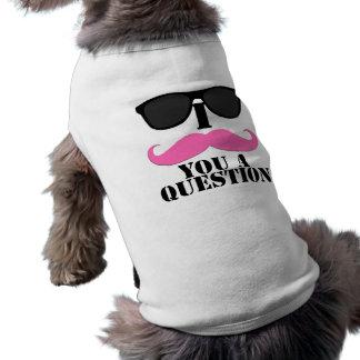 I moustache vous un rose de question avec des lune manteaux pour toutous