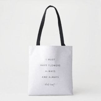 I must have flowers quote tote