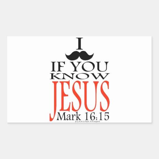 I Mustache if You Know Jesus Stickers