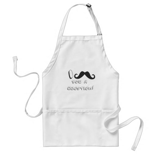 I mustache you a question! aprons