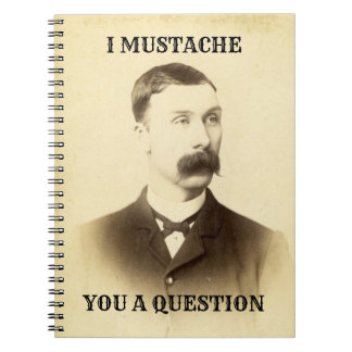 I Mustache You a Question Humorous Notebook