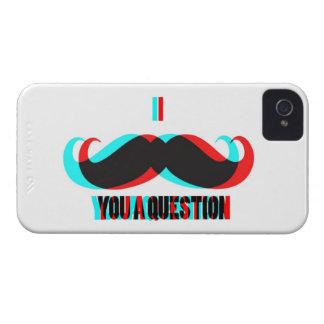 I Mustache You a Question in 3D iPhone 4 Case-Mate Case