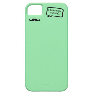 i mustache you a question mini pastel green case for the iPhone 5