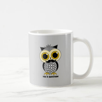 I mustache you a question owl basic white mug