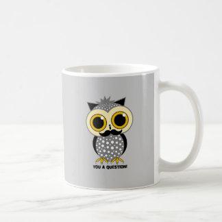 I mustache you a question owl classic white coffee mug
