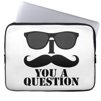 I Mustache You a Question Sunglasses Laptop Sleeve